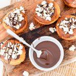 Popcorn proteïne muffins met chocola