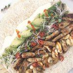 Volkoren wraps met vegan kip