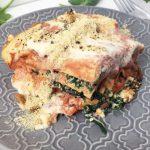 Lasagne met vegan ricotta en spinazie
