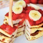 Strawberry-ricotta pannenkoeken