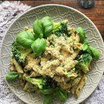 Pasta pesto met broccoli
