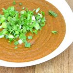 Romige wortel linzen soep