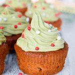 Gezonde kerst cupcakes met groente