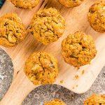 Banaan en wortel eiwit-muffins